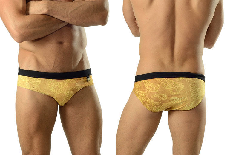 Geronimo Gold Koi fish swim briefs