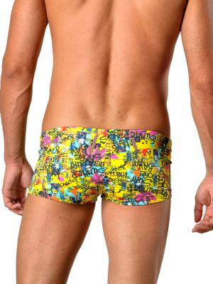 Geronimo Square Shorts, Item number: 1415b2 Yellow, Color: Multi, photo 5