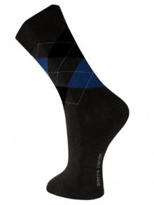Argyle Socks, Pierre Cardin, Item number: PC9-43-46 Dark Grey