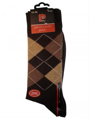 Pierre Cardin Argyle Socks, Item number: PC9-43-46 Dark Brown, Color: Multi, photo 3