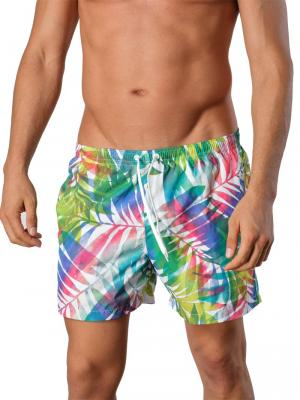Geronimo Swim Shorts, Item number: 1405p1 Leafs, Color: White, photo 1