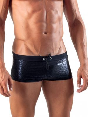 Geronimo Square Shorts, Item number: 1514b2 Black Swim Hipster, Color: Black, photo 1