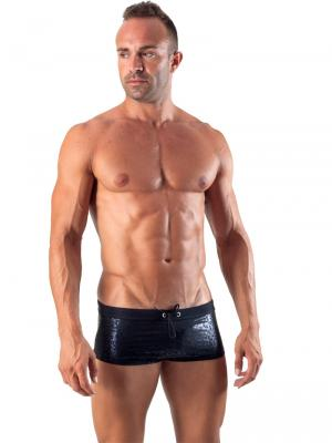 Geronimo Square Shorts, Item number: 1514b2 Black Swim Hipster, Color: Black, photo 2
