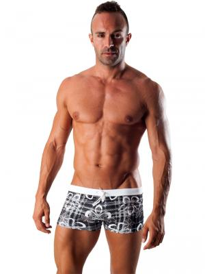 Geronimo Boxers, Item number: 1501b1 Black Swim Trunk, Color: Black, photo 2