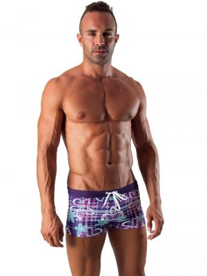 Geronimo Boxers, Item number: 1501b1 Purple Swim Trunk, Color: Purple, photo 2