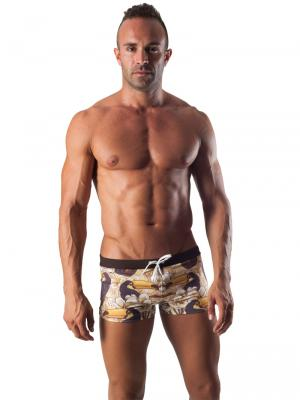 Geronimo Boxers, Item number: 1507b1 Brown Swim Trunk, Color: Brown, photo 2