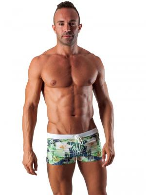 Geronimo Boxers, Item number: 1504b1 White Swim Trunk, Color: Multi, photo 2