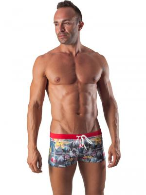 Geronimo Boxers, Item number: 1504b1 Red Swim Trunk, Color: Red, photo 2