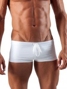 Square Shorts, Geronimo, Item number: 1516b2 White Swim Hipster