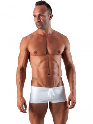 Geronimo Square Shorts, Item number: 1516b2 White Swim Hipster, Color: White, photo 2