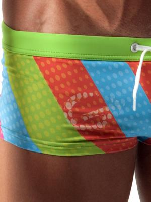 Geronimo Square Shorts, Item number: 1512b2 Green Swim Hipster, Color: Green, photo 3