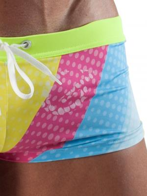 Geronimo Square Shorts, Item number: 1512b2 Yellow Swim Hipster, Color: Yellow, photo 3
