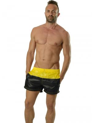 Geronimo Swim Shorts, Item number: 1606p1 Yellow Black Swim Shorts, Color: Black, photo 4