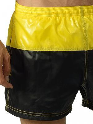 Geronimo Swim Shorts, Item number: 1606p1 Yellow Black Swim Shorts, Color: Black, photo 5