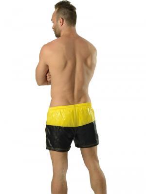 Geronimo Swim Shorts, Item number: 1606p1 Yellow Black Swim Shorts, Color: Black, photo 7