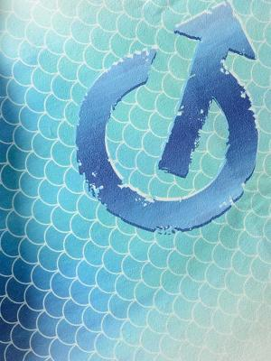 Geronimo Beach Towels, Item number: 1608x1 Fish Scales, Color: Blue, photo 2