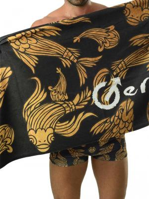Geronimo Beach Towels, Item number: 1609x1 Black Koi Fish Towel, Color: Black, photo 1