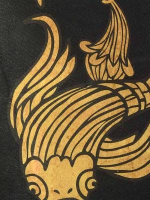 Geronimo Beach Towels, Item number: 1609x1 Black Koi Fish Towel, Color: Black, photo 2