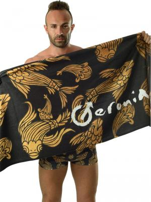 Geronimo Beach Towels, Item number: 1609x1 Black Koi Fish Towel, Color: Black, photo 3