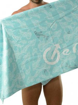 Geronimo Beach Towels, Item number: 1609x1 Blue Koi Fish Towel, Color: Blue, photo 1