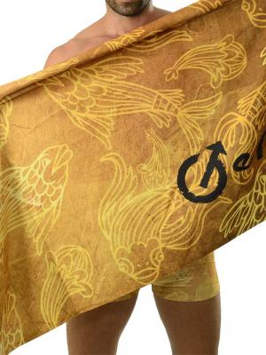 Geronimo Beach Towels, Item number: 1609x1 Gold Koi Fish Towel, Color: Brown, photo 1
