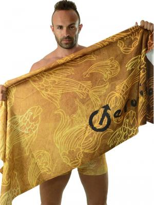 Geronimo Beach Towels, Item number: 1609x1 Gold Koi Fish Towel, Color: Brown, photo 3
