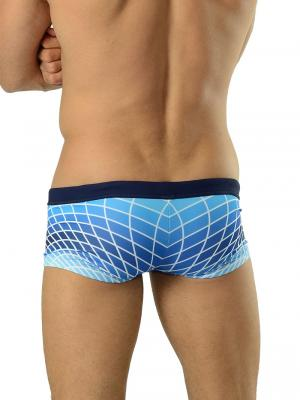 Geronimo Square Shorts, Item number: 1602b2 Blue Swim Hipster, Color: Blue, photo 4