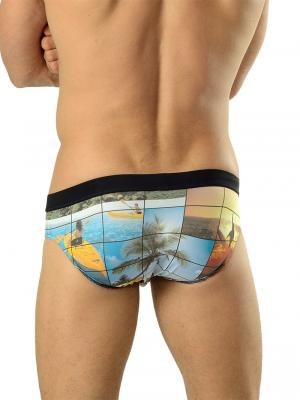 Geronimo Briefs, Item number: 1604s2 Black Swim Brief, Color: Multi, photo 3