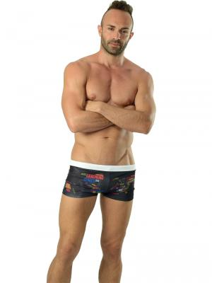 Geronimo Boxers, Item number: 1623b1 Swim Trunks, Color: Black, photo 2