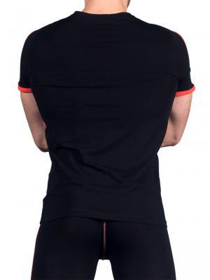 Geronimo T shirt, Item number: 1666t5 Black Red T-shirt, Color: Black, photo 3