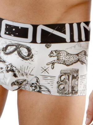 Geronimo Boxers, Item number: 1670b1 Drawings Boxer Briefs, Color: White, photo 3