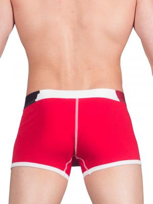 Geronimo Boxers, Item number: 1664b1 Red Men's Boxer Trunks, Color: Red, photo 4