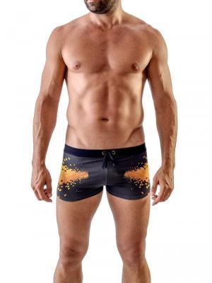 Geronimo Boxers, Item number: 1705b1 Equalizer Swim Trunks, Color: Black, photo 2