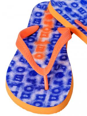 Geronimo Flip Flops, Item number: 1709f1 Blue Orange Flip Flop, Color: Blue, photo 2