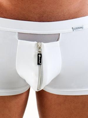 Geronimo Boxers, Item number: 1351BV White Zip Boxer, Color: White, photo 3
