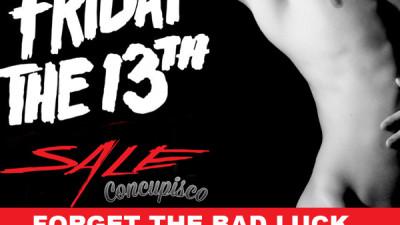 Friday 13th Concupisco mens underwear and swimwear sale