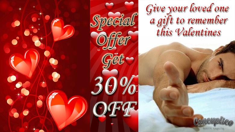 Valentine's day offer on mens underwear and swimwear