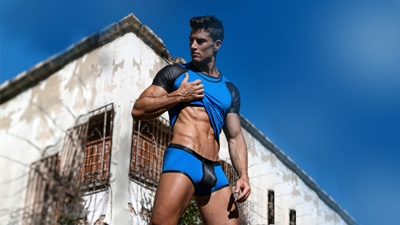 Reveal Boxer Brief Geronimo 1841b1 Blue Fetish Underwear Collection