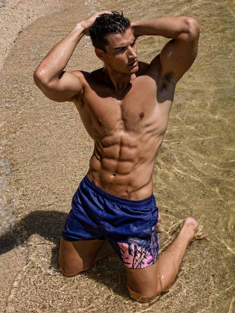 geronimo swimwear for men 1905p1 Purple Swimming shorts