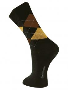 Argyle Socks, Pierre Cardin, Item number: PC9-43-46 Dark Brown