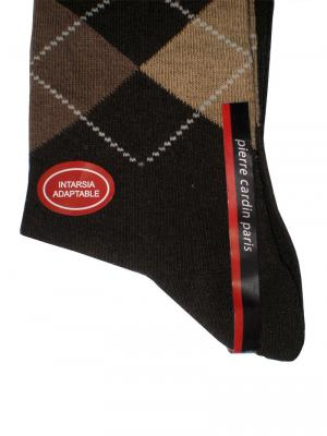 Pierre Cardin Argyle Socks, Item number: PC9-43-46 Dark Brown, Color: Multi, photo 2