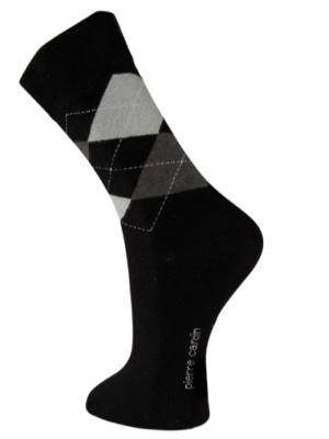 Pierre Cardin Argyle Socks, Item number: PC9-43-46 Black, Color: Multi, photo 1