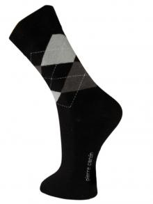 Argyle Socks, Pierre Cardin, Item number: PC9-43-46 Black