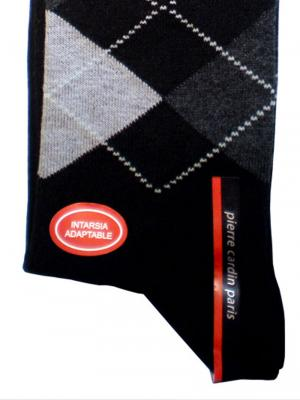 Pierre Cardin Argyle Socks, Item number: PC9-43-46 Black, Color: Multi, photo 2