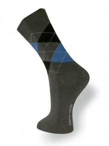 Argyle Socks, Pierre Cardin, Item number: PC9-39-42 Grey