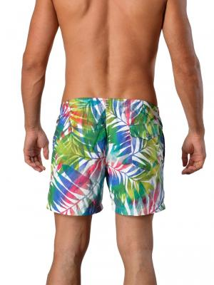 Geronimo Swim Shorts, Item number: 1405p1 Leafs, Color: White, photo 4