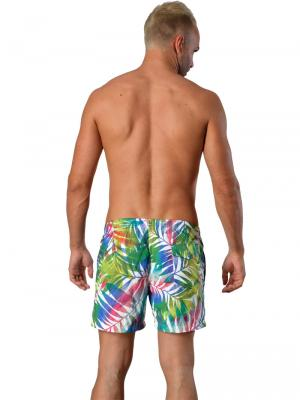 Geronimo Swim Shorts, Item number: 1405p1 Leafs, Color: White, photo 5