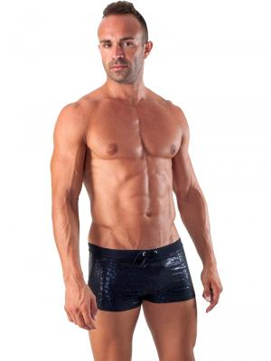Geronimo Boxers, Item number: 1514b1 Black Swim Trunk, Color: Black, photo 3