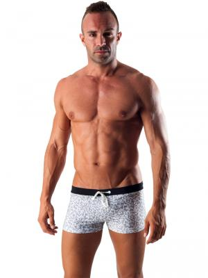 Geronimo Boxers, Item number: 1514b1 White Swim Trunk, Color: White, photo 2
