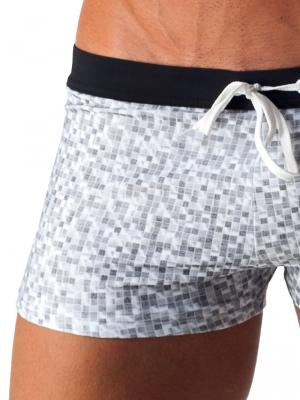 Geronimo Boxers, Item number: 1514b1 White Swim Trunk, Color: White, photo 3